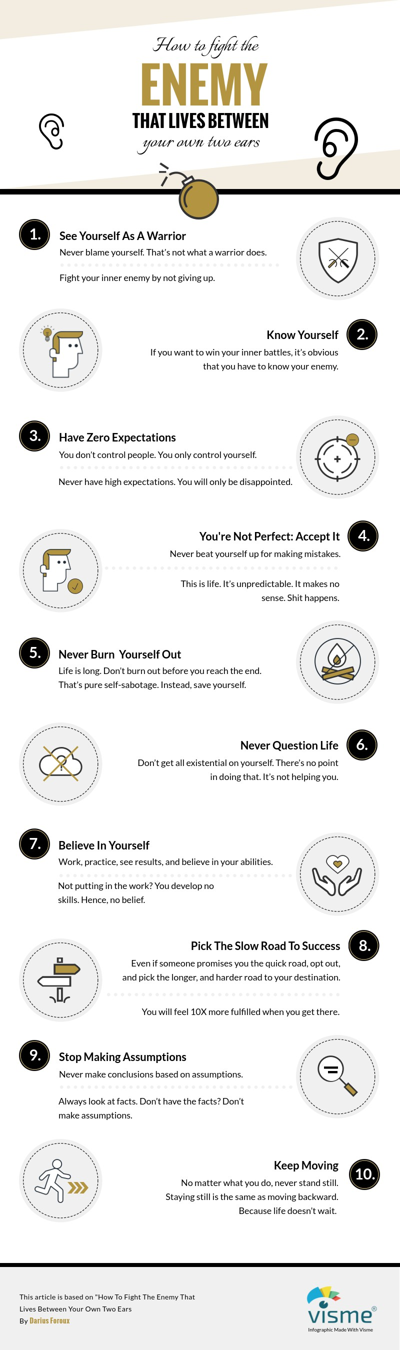 How To Fight The Enemy That Lives Between Your Own Two Ears [infographic]